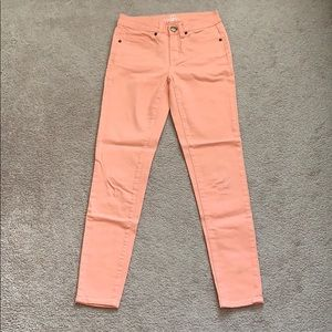 Bluenotes Coral Cropped Skinny Jean